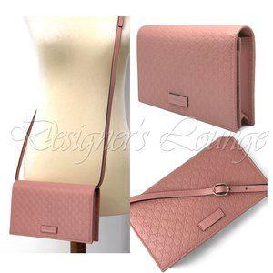 NIB GUCCI Micro GG Guccissima Crossbody Wallet Bag
